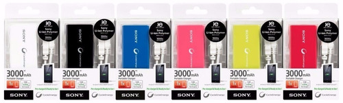 cargador portatil sony 3000 mah powerbank original