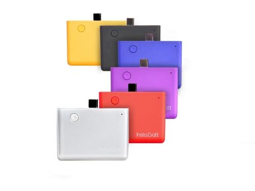 cargador portatil usb instabatt 1200mah iphone 6 7 plus
