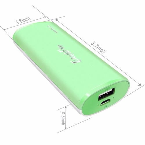 cargador portatil usb verde&blanco p iphone 6/6 plus/6s plus
