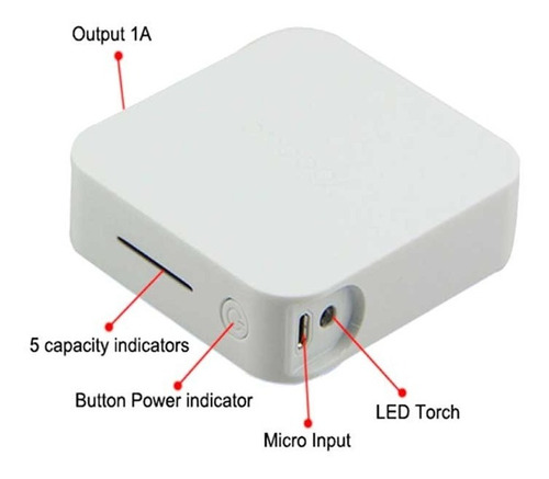 cargador portatil yoobao powerbank 10000 mah samsung iphone