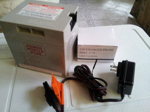 cargador power wheels para bateria de 12 volts.