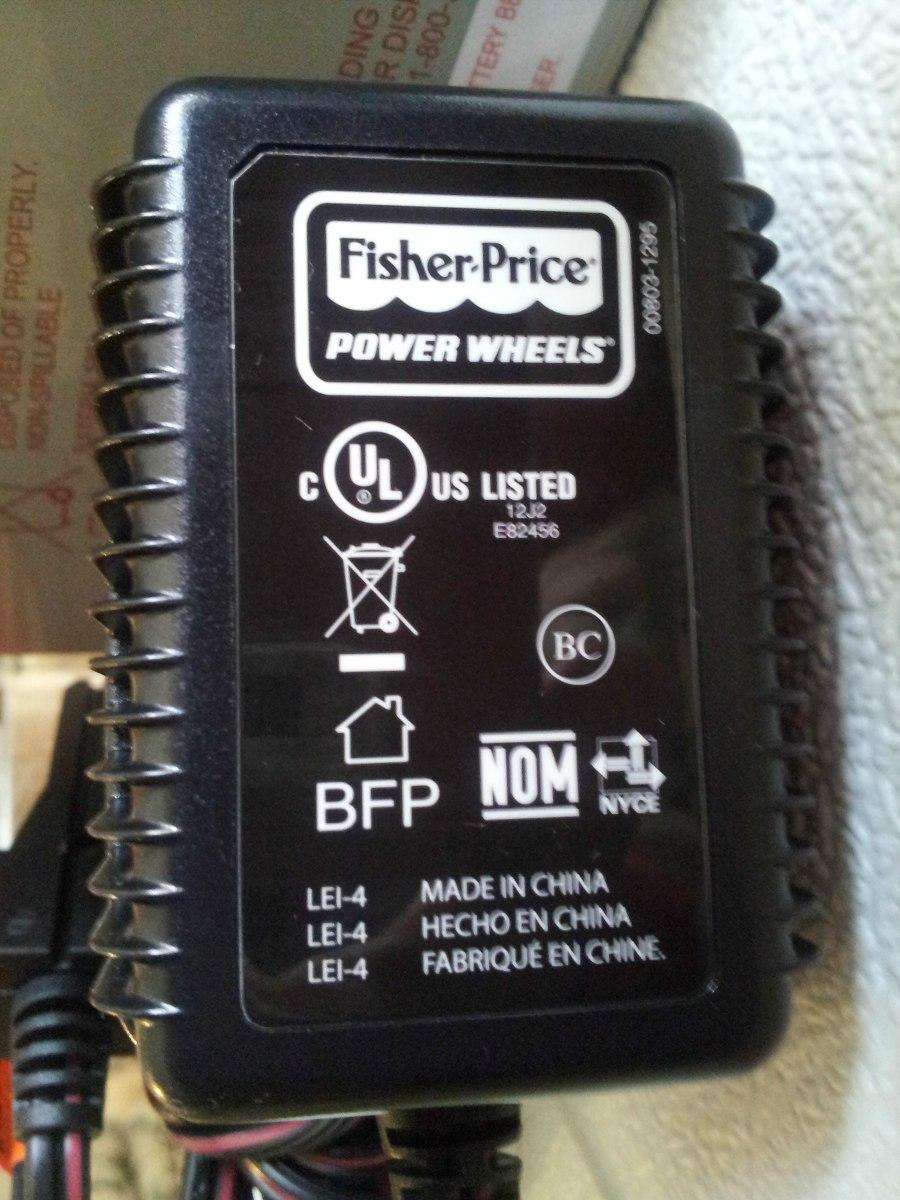 Cargador Power Wheels Para Bateria De 12 Volts 1 099