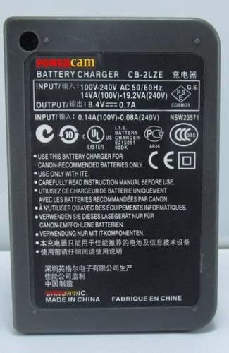 cargador powercam cb 2lze para canon nb7l nb 7l g10 g11 sx30