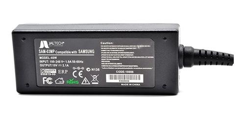 cargador premium samsung 19v, 2.1a, 3.0*1.0mm