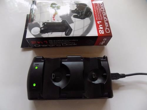 cargador ps3 2 controles/move