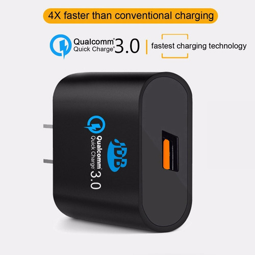 cargador qualcomm 3.0 quickcharger jdb 85%extrarrápido-veloz