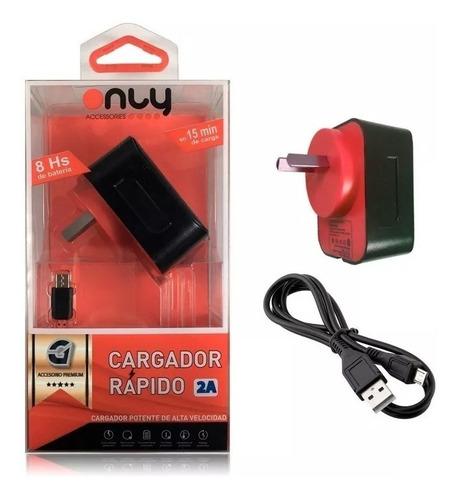 cargador rápido 2a premium ficha micro usb samsung motorola