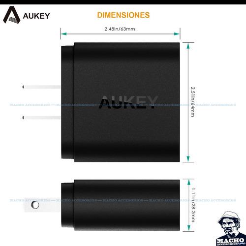 cargador rapido aukey pa-t16 quick charge 3.0 - 2 puertos