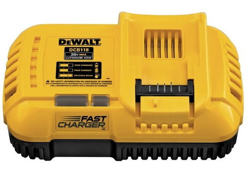 cargador rápido flexvolt 220v dewalt 20v/60v li-ion - dcb118