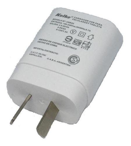 cargador rapido lg g5 g6 g7 v30 quick charge 3.0 tipo c usb