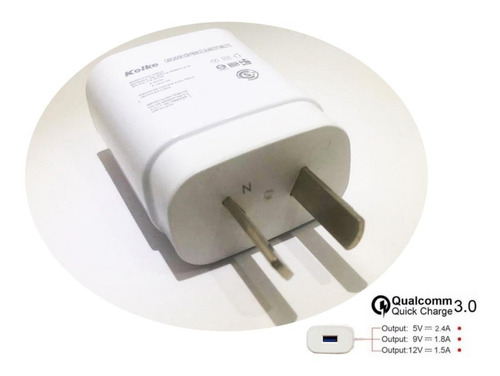 cargador rapido lg g6 v20 v30 quick charge 3.0 tipo c usb