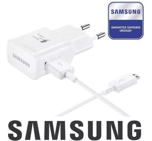 cargador rapido original samsung + cable micro usb fast 15w