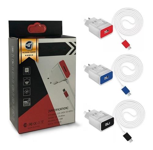 cargador rápido tablets 2a 5v micro usb samsung gadnic noga
