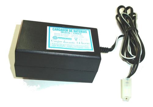 cargador rodacross 6v/12v c/ficha de 2/4 canales