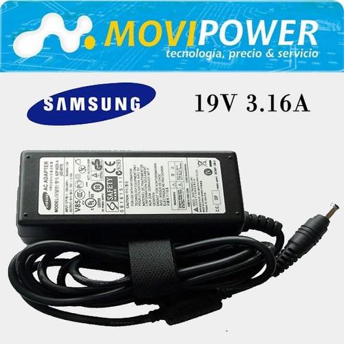 cargador samsung 19v 3.16a 60w np35 np400 np410 np535 envio!