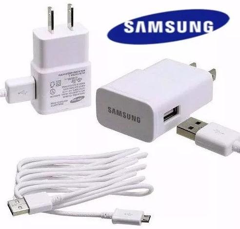 cargador samsung de pared s3, s4, s5, s6 cable incluido 2amp