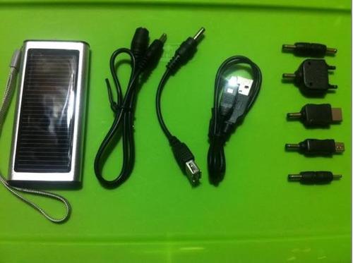 cargador solar 1350 mah portatil con pila interna de litio
