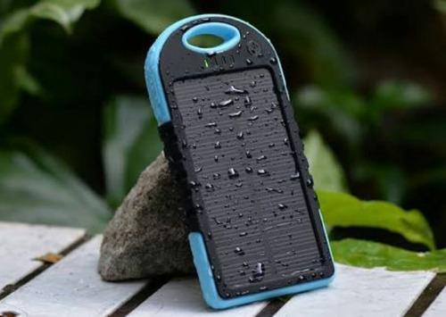 cargador solar batería externa de 5000 ma para celular