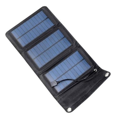cargador solar de celulares portátil plegable usb 5w enertik