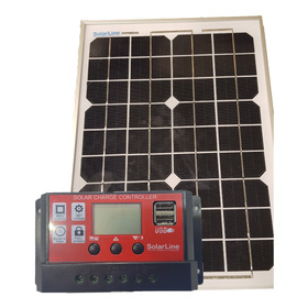 Cargador Solar Para Baterías 12v Kit Panel 10wp + Regulador