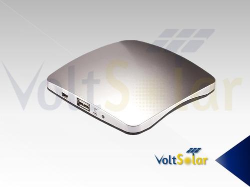 cargador solar portátil, adherible a ventanas, 6000 mah