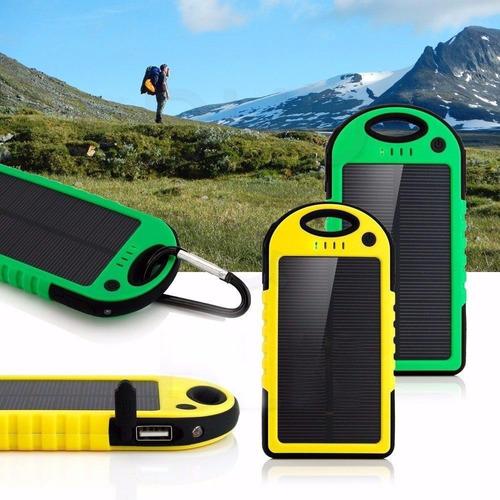 cargador solar portátil impermeable 5000 mah / cupoclick