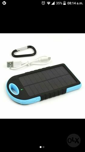 cargador solar portatil power bank 20800mah 2 puertos usb