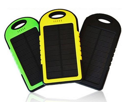 cargador solar power bank 12000 mah bateria recargable led