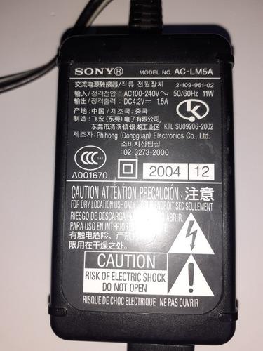 cargador sony ac-lm5a original. excelente estado