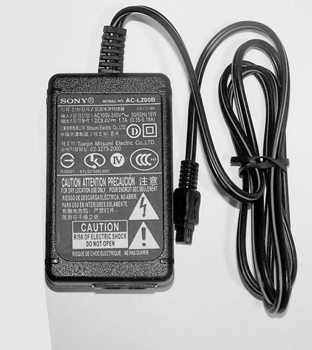 cargador sony model ac-l200b original
