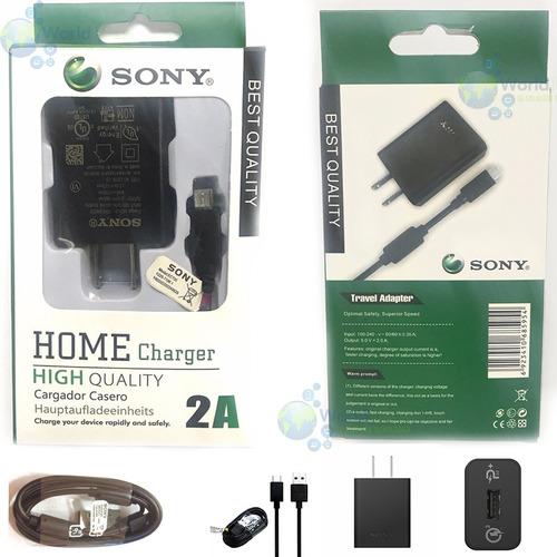 cargador sony xperia carga rapida 2.0a z m c e x ultra mini