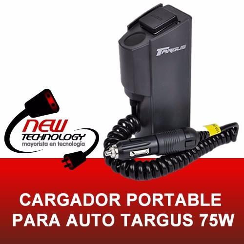 cargador targus 75w de auto para varios dispositivos