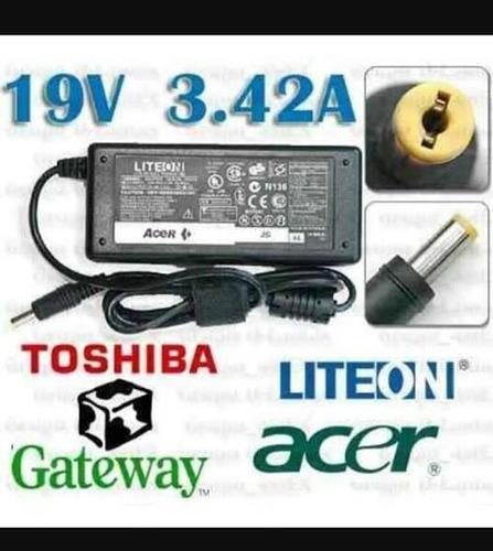cargador toshiba, acer , gateway 19v 3.42a reemp. y original