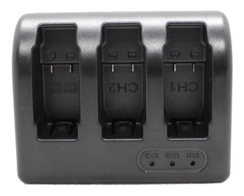 cargador triple para bateria gopro hero 5 6 y 7 black