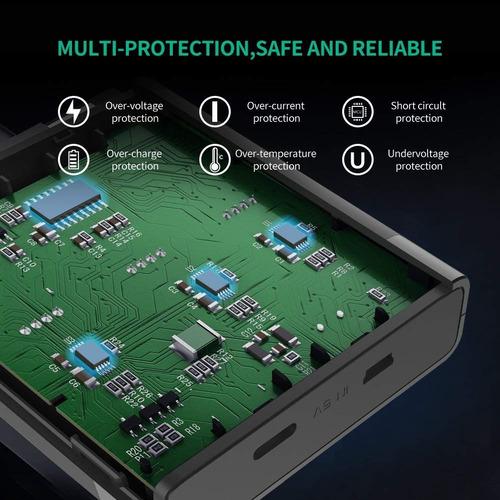 cargador triple para baterias gopro de hero 5 6 y 7 ugreen