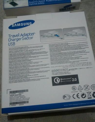 cargador turbo samsung original 5v / 2a / 15w envio gratis