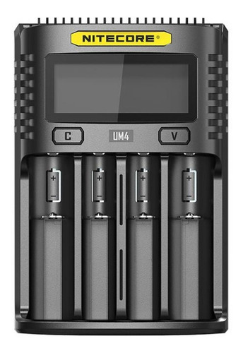 cargador um4 usb nitecore 4 slots display de estado