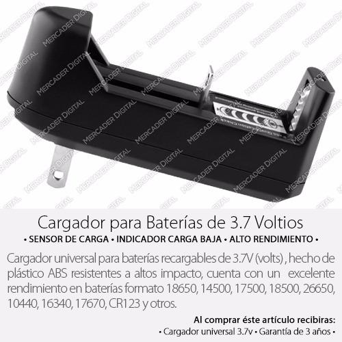 cargador universal baterías 3.7v 18650 14500 cr123 26650...