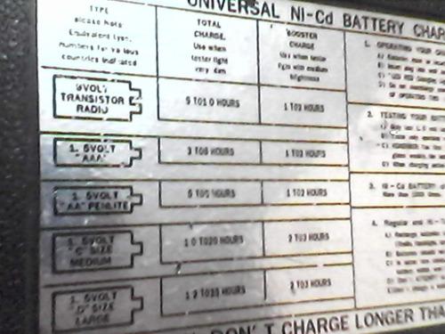 cargador universal baterias recargables refaccion