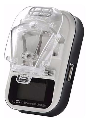 cargador universal de baterias led y entrada usb venetech