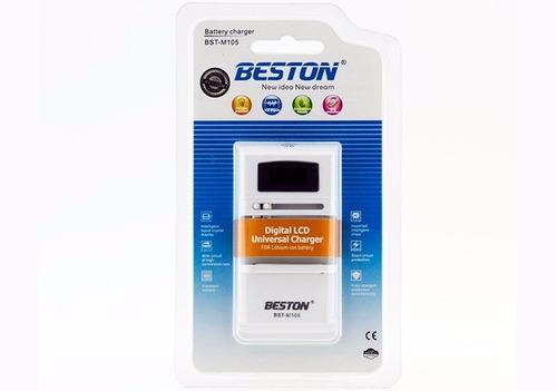 cargador universal digital para baterías de litio todo uso