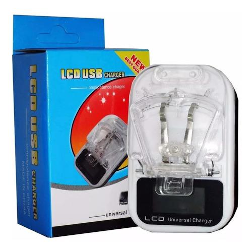 cargador universal led bateria pila celulares puerto usb