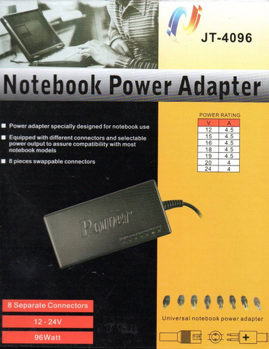 cargador universal notebook laptop netbook toshiba acer dell