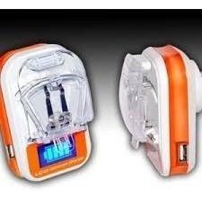 cargador universal para baterías con lcd somos tienda fisica
