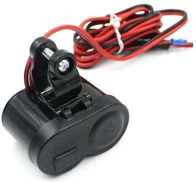 cargador usb 12v encendedor moto celular switch envio gratis
