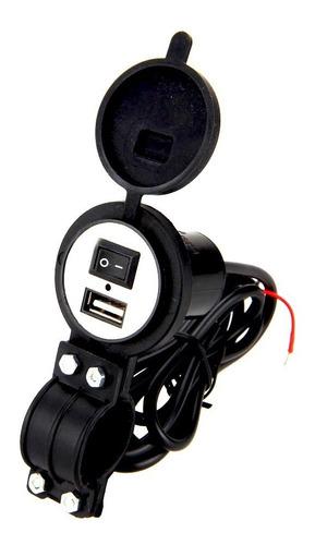 cargador usb 5v de moto soporte universal full carga