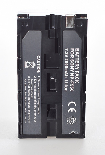 cargador usb + batería np-f550 t/ sony p/ iluminador led