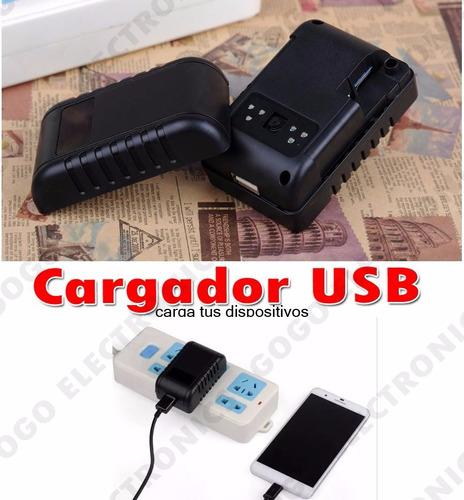 cargador usb camara espia wifi p2p fullhd sony 64gb nocturna