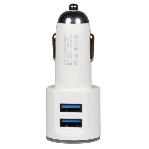 cargador usb carro dos puertos ldnio 3.4a cable microusb v8