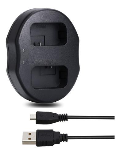 cargador usb doble baterias sony np-fw50 / a7s, a7s2, a6000
